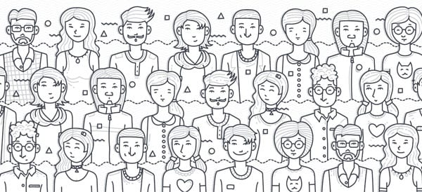 drawing of different people